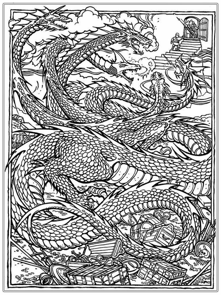 Dragon Coloring Pages For Adults Dragon Coloring Page Adult Coloring Pages Coloring Books