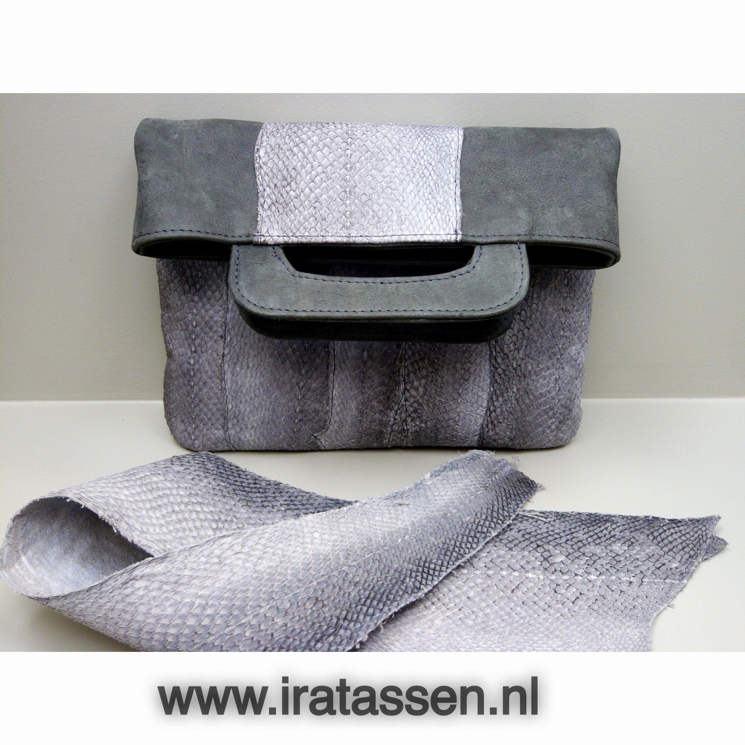 e04fff26348 Zalmleer handtas design by Iratassen | Visleder tassen in 2018 ...