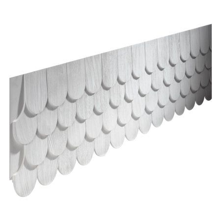 102 1 8 L X 16 13 16 H X 3 4 P Round Fish Scale Panel Decor Paneling Wood Shingles