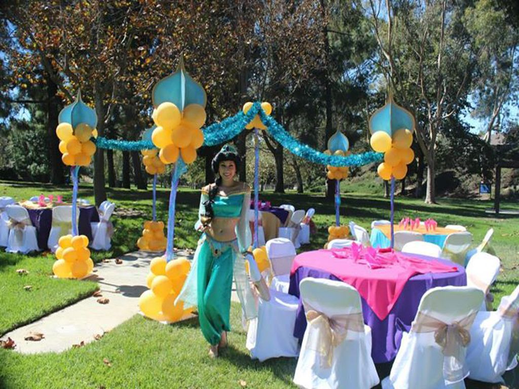 Theme balloon ideas balloons n party decorations orange for Aladdin decoration ideas