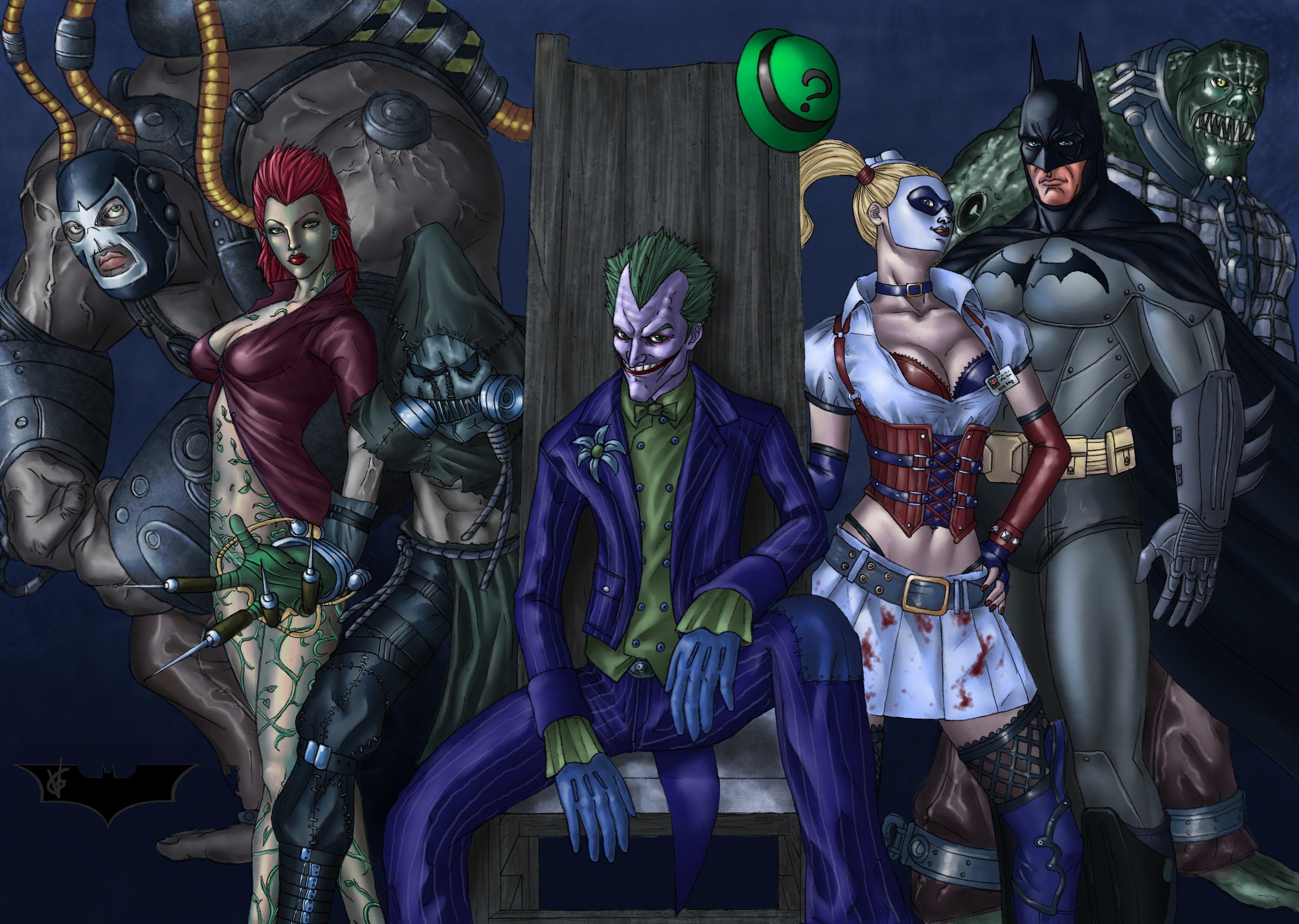 Batman Posters Batman And Joker Arkham Asylum Game Poster Therufus Com Batman Arkham Asylum Batman Arkham Joker Comic