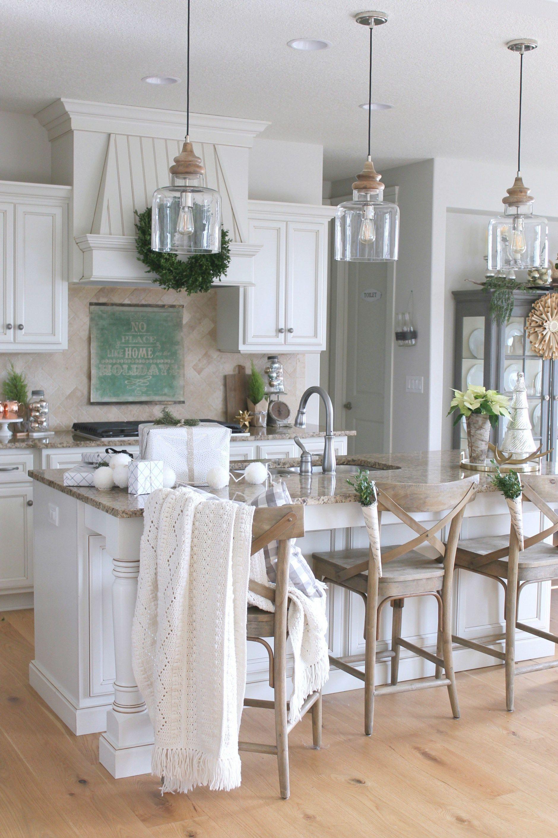 Coastal Kitchen Pendant Lighting Rustic Farmhouse Kitchen
