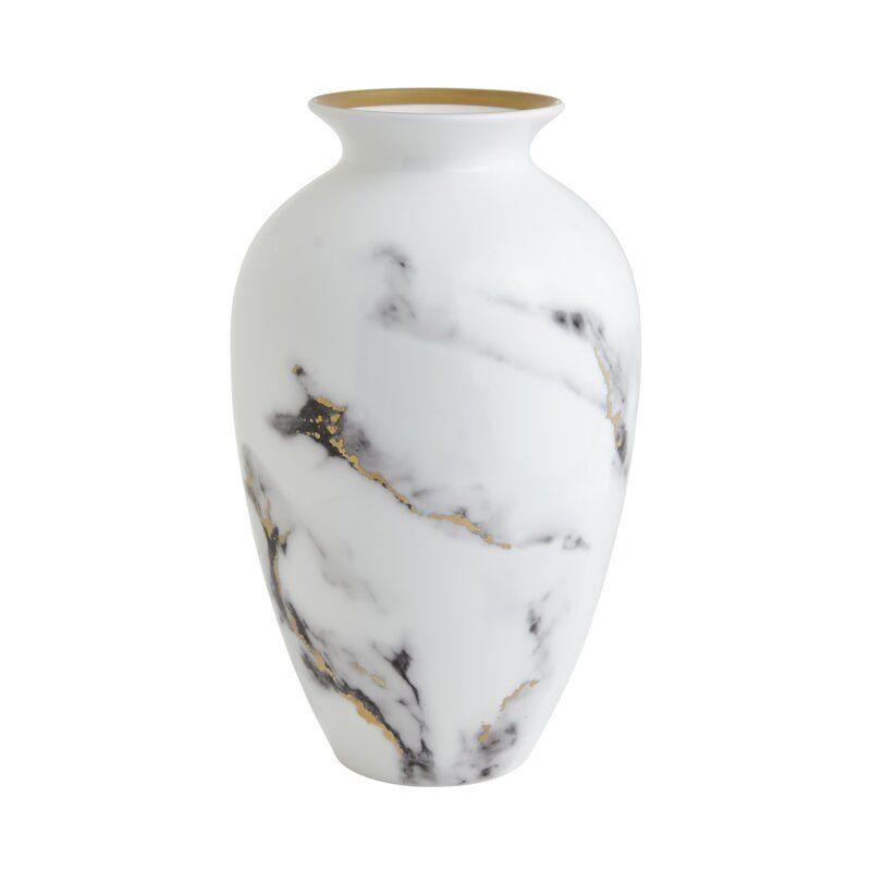 Marble Venice Fog 12 Urn Vase In 2020 Urn Vase Vase Gold Marble