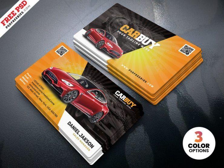 Car Dealer Business Card Template Free Psd Psdfreebies Com Free Business Card Templates Card Templates Free Business Card Template Design