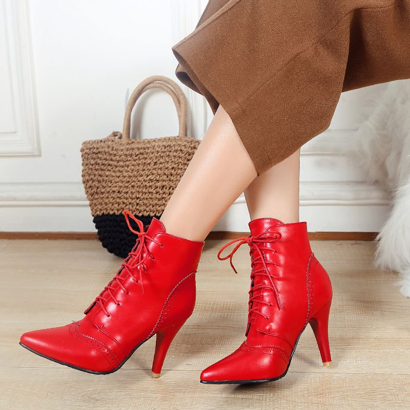29410ceb534d Ericdress Lace-Up Front Pointed Toe Women's Ankle Boots #ericdressreviews,# ericdress fashion reviews,#ericdress beauty reviews,#ericdress ankle boots  ...