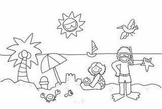 Dibujos Para Colorear Del Verano Material Didactico Dibujos De