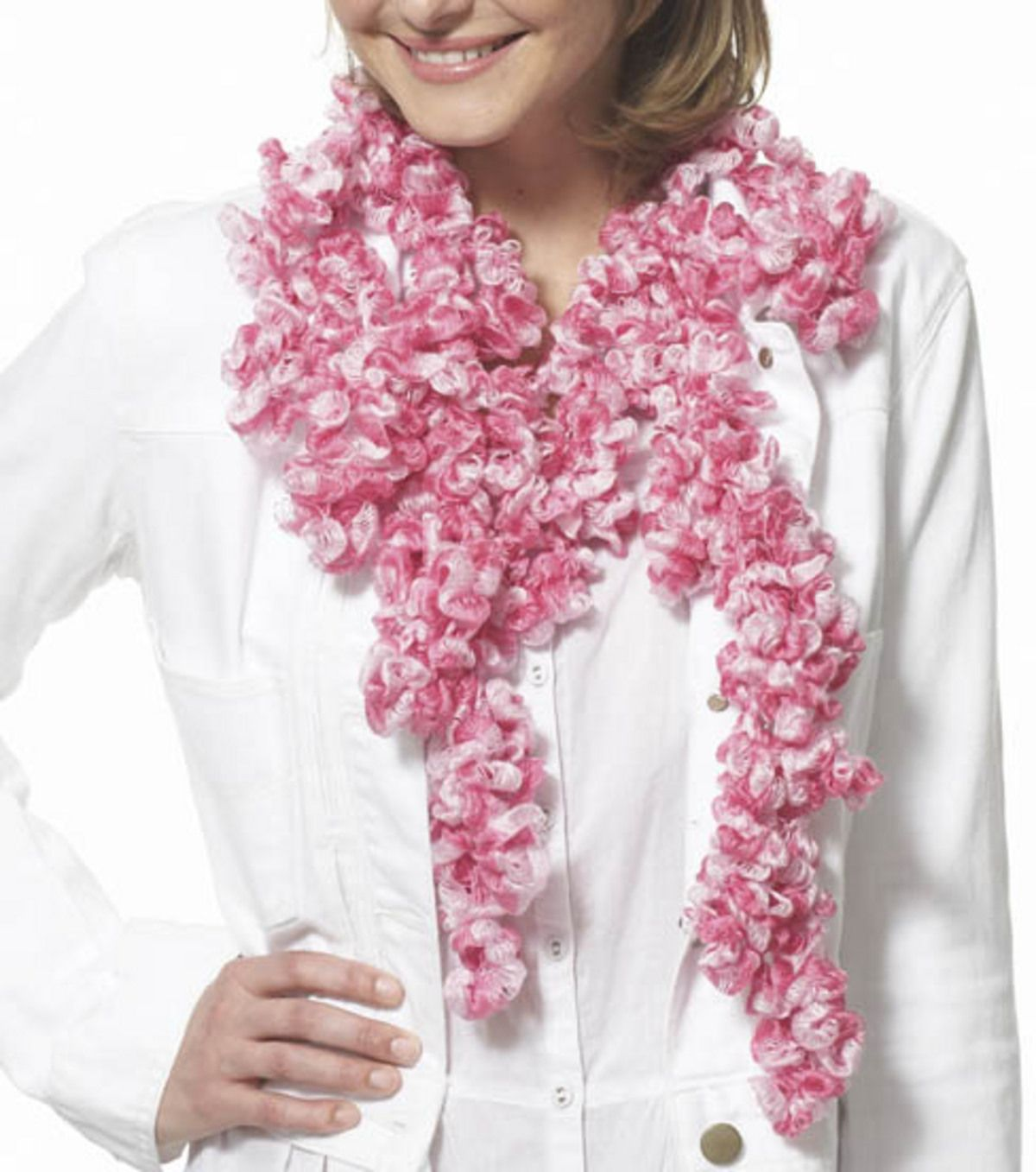 Ruffle Scarf at Joann.com has the pattern but I think part of the ...