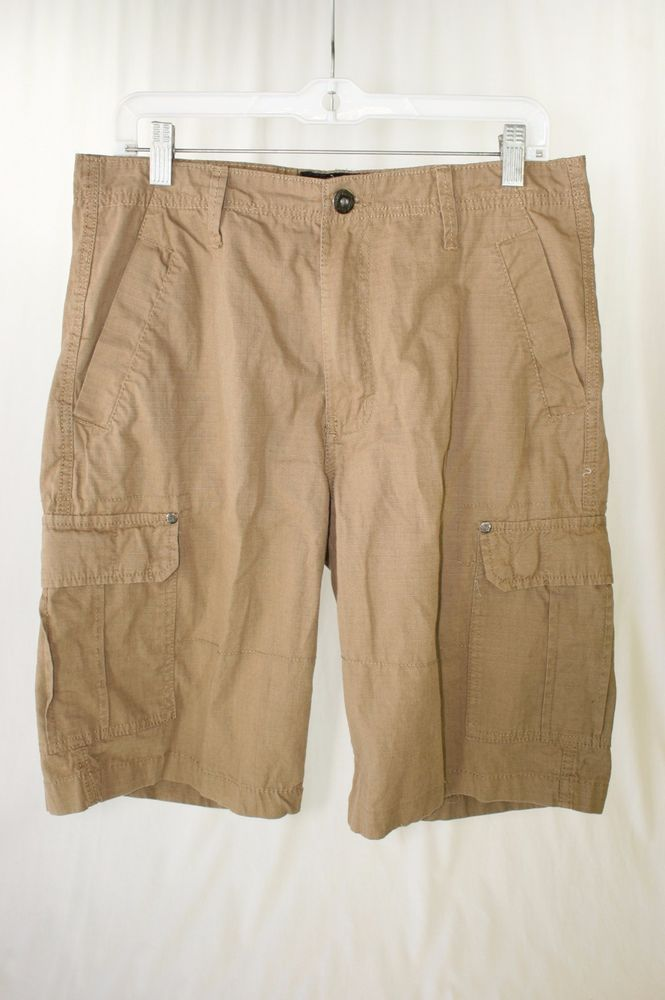 English Laundry Lions Crest Mocha Brown Cargo Short Lightweight Men S 32 2140 Englishlaundry Cargo With Images