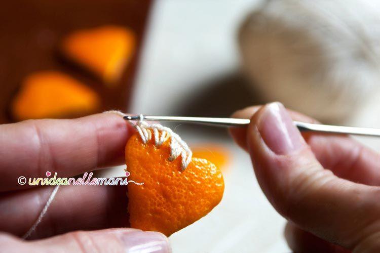 Decorazioni natalizie con le bucce di arancia for Decorazioni cucina fai da te