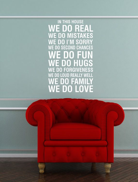 Vinyl Wall Decal House Rules In This House By Urbanexpressions, $35.00 22x40