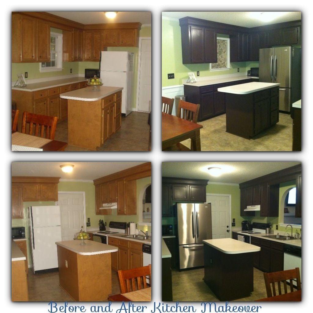 Kitchen Cabinet Makeovers Before And After before and after diy kitchen makeover with rustoleum cabinet