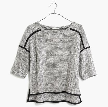 textured crop sweatshirt / madewell