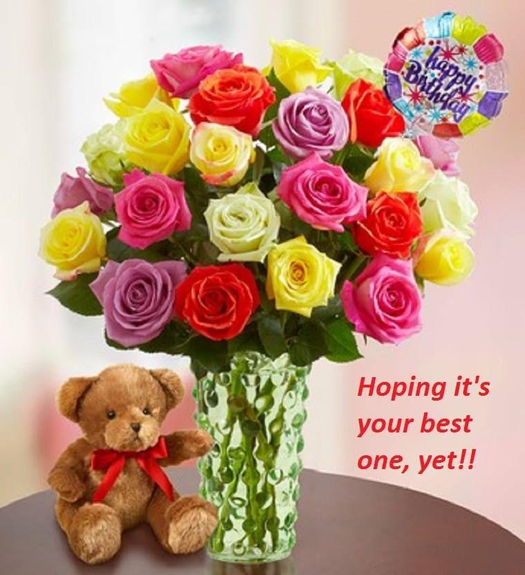 Best Bday Birthday flower delivery, Flower gift, Happy