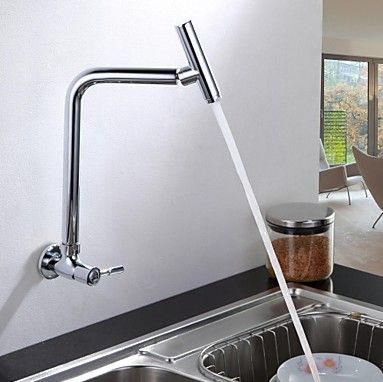 Wall Mounted Cold Kitchen Faucet ④ With Swivel Spout Drinking Water Le