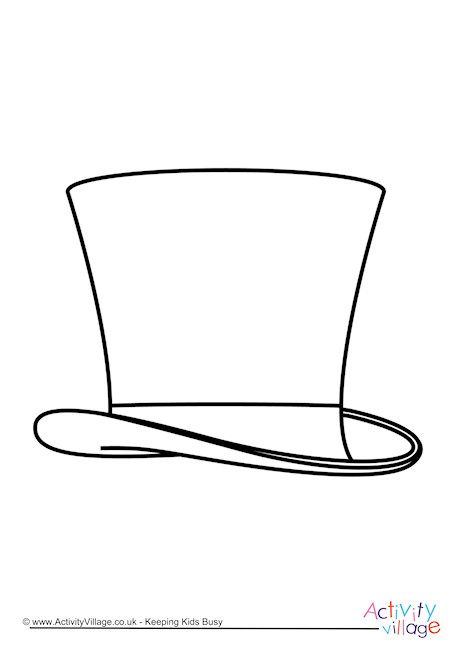 Top Hat Colouring Page Top Hat Coloring Pages Top Hat Drawing