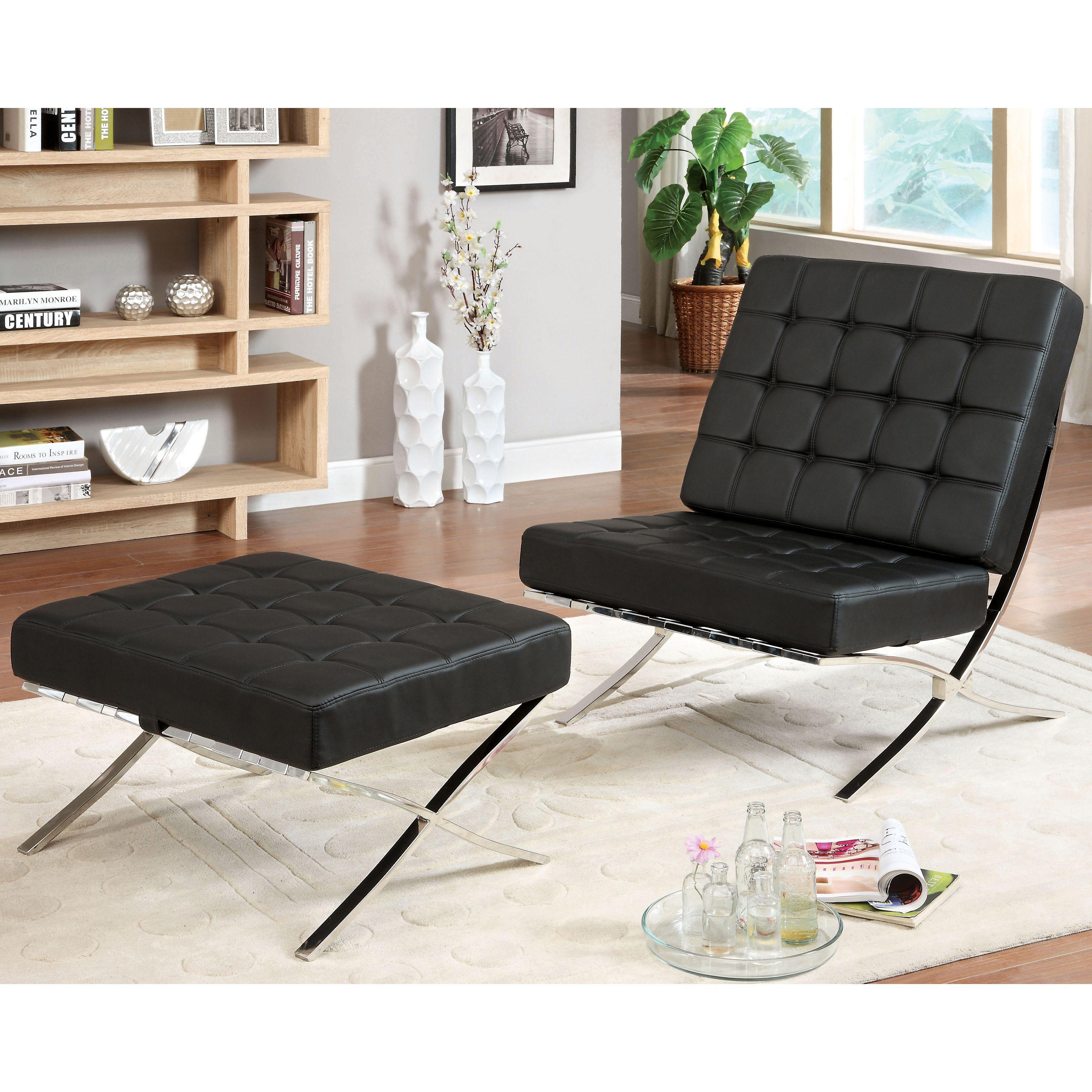 Marvelous Furniture Of America Mauslo Modern Faux Leather 2 Piece Customarchery Wood Chair Design Ideas Customarcherynet