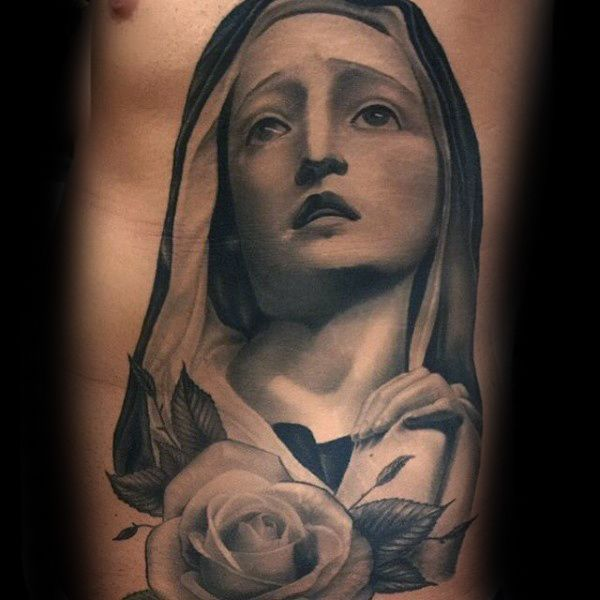 19a861f41 100 Virgin Mary Tattoos For Men - Religious Design Ideas | Tattoos ...