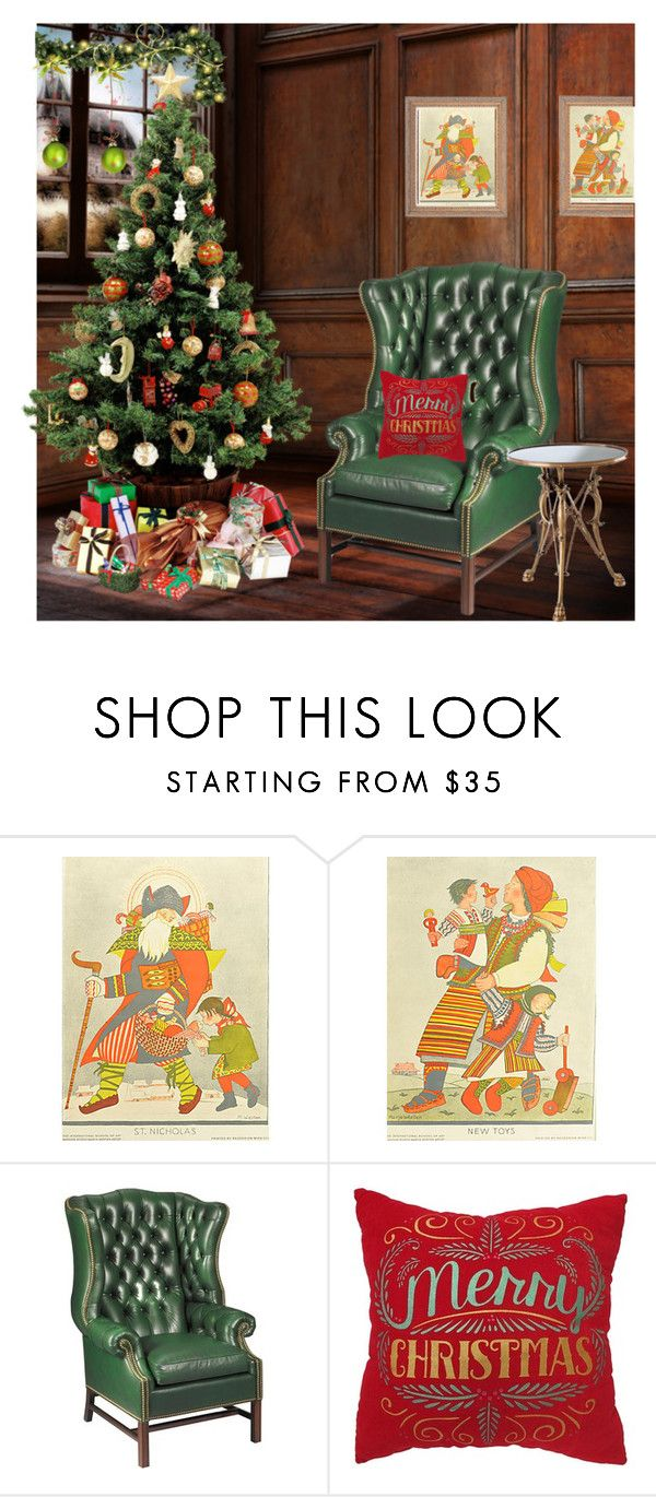 """""""Home for the Holidays"""" by engleann ❤ liked on Polyvore featuring interior, interiors, interior design, home, home decor, interior decorating, St. Nicholas Square and Eichholtz"""