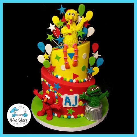 Sesame Street 1st Birthday Cake Nj
