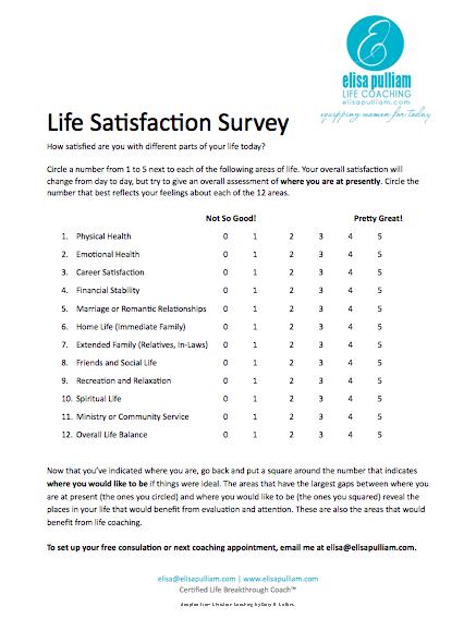 Welcome  Life Satisfaction