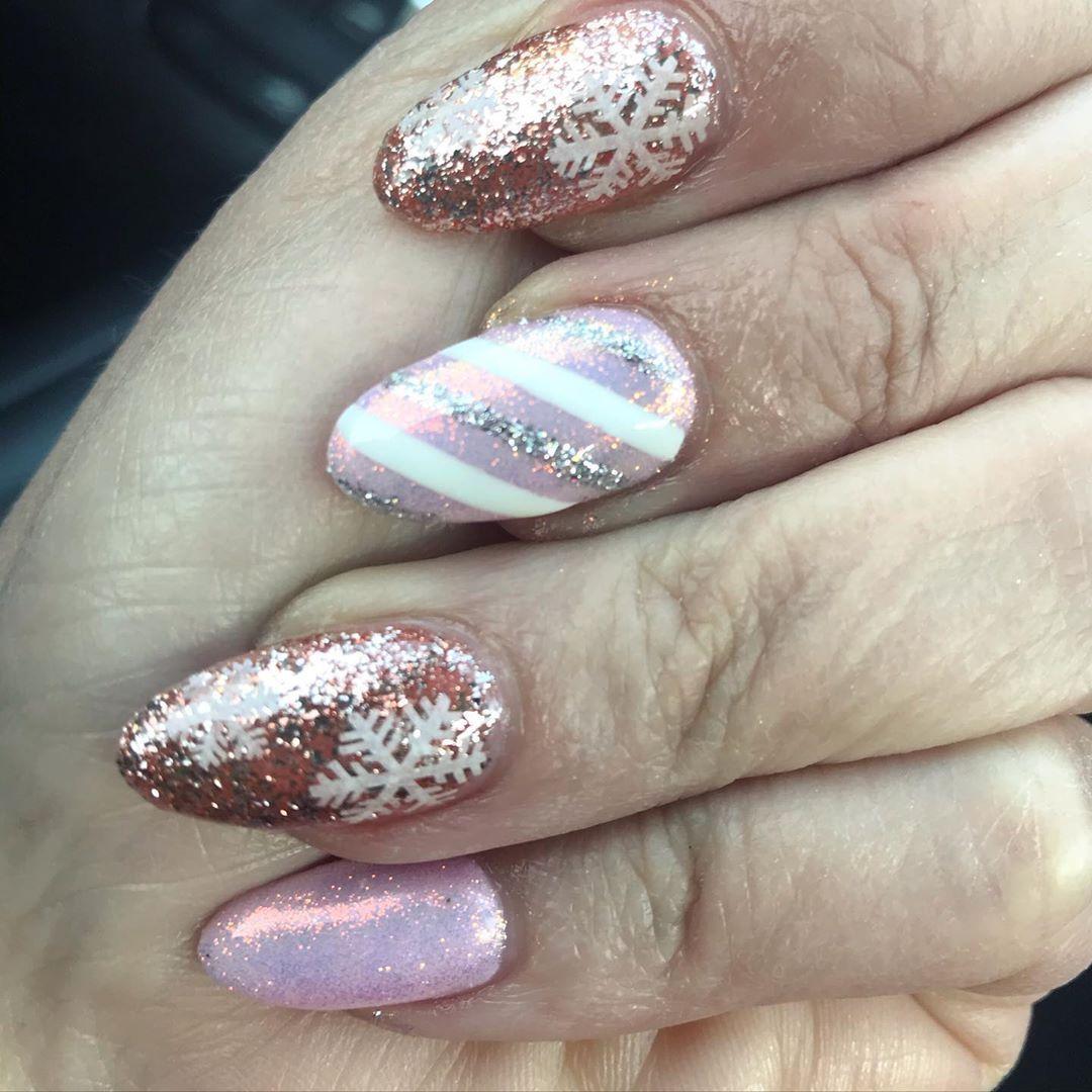 "Kori Teper on Instagram ""Holiday nails...thank you"