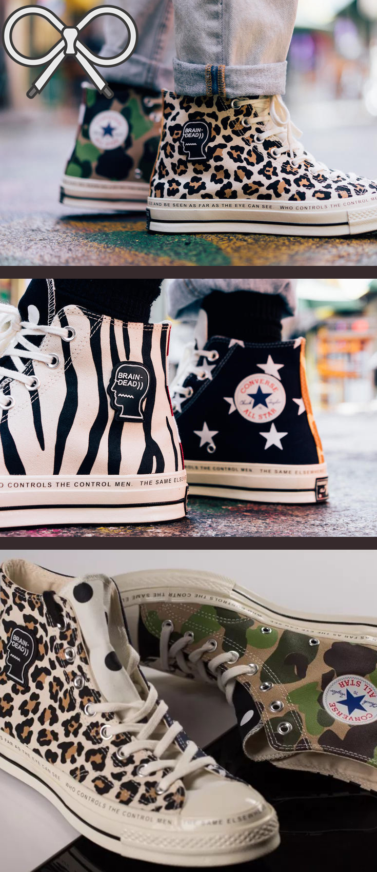 9f10fd143de Variation of the Converse x Brain Dead Chuck 70 collection ...