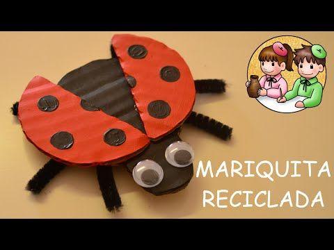Como Hacer Una Mariquita En Material Reciclable