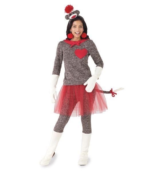 womens sock monkey costume Halloween Pinterest Sock monkey - no cost halloween costume ideas