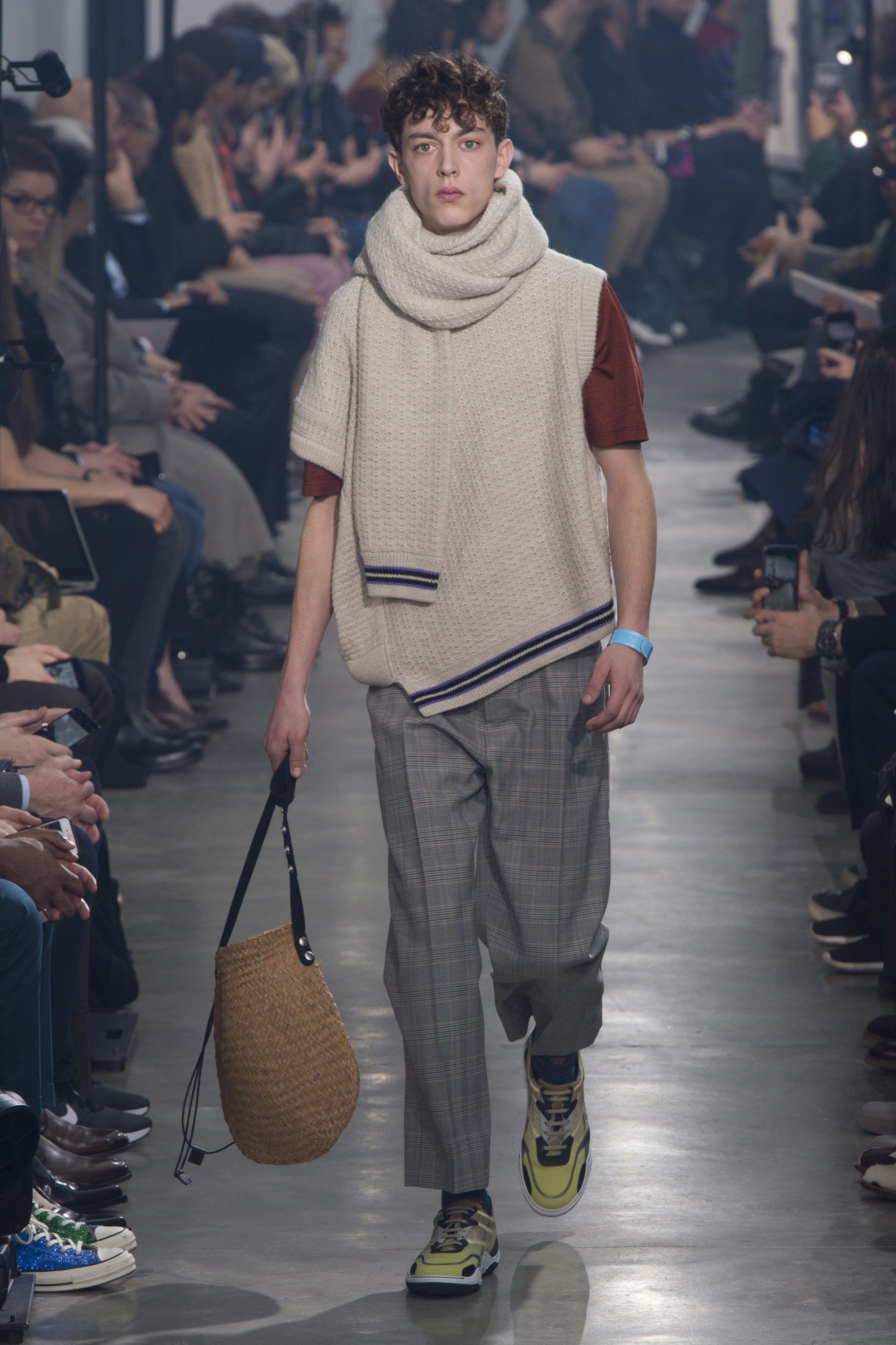 Lanvin fall menswear fashion show in rtw knits fall