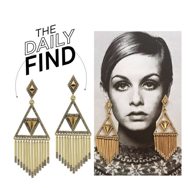 """""""The Daily Find: House of Harlow Earrings"""" by polyvore-editorial ❤ liked on Polyvore featuring House of Harlow 1960 and DailyFind"""