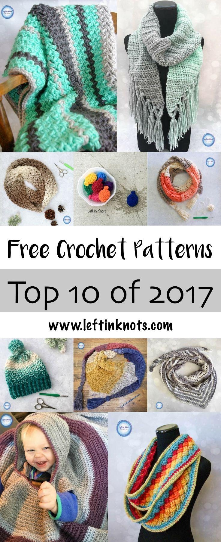 Top 10 Free Crochet Patterns of 2017 | Patrones blusas, Bufanda ...