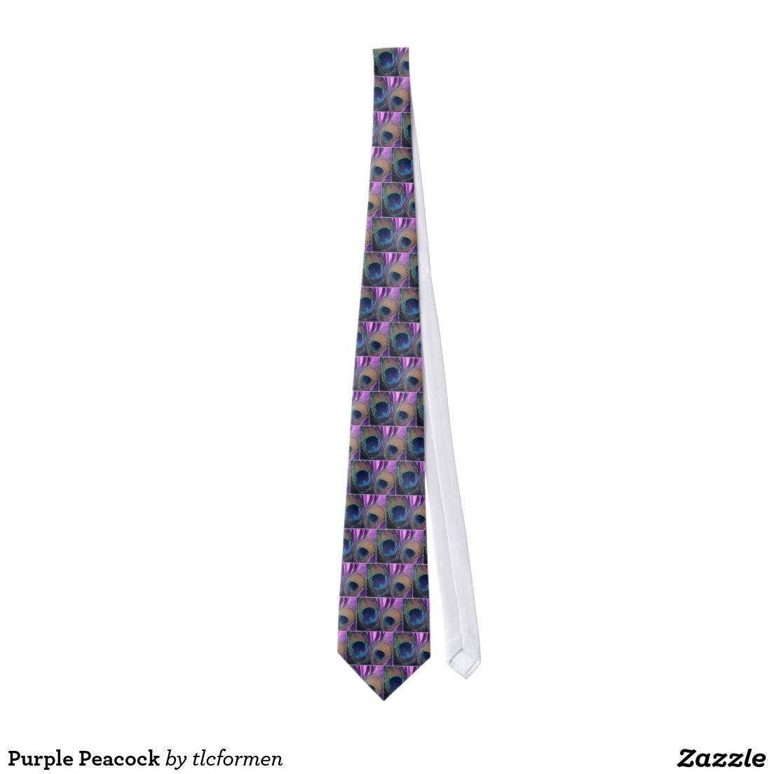 Purple Peacock Tie