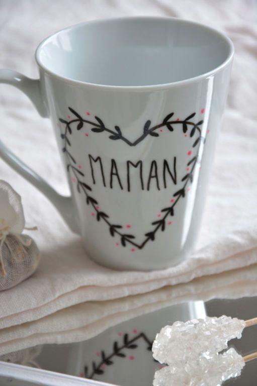 un mug des feutres pour porcelaine et le tour est jou voici l astuce pour tr ecole. Black Bedroom Furniture Sets. Home Design Ideas