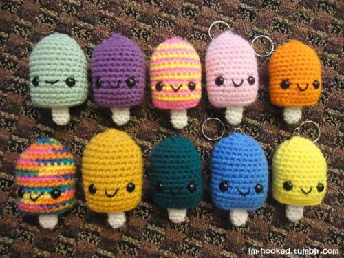 Crochet Amigurumi Keychain Free Pattern : Amigurumi popsicle keychain amigurumi crochet or knitting