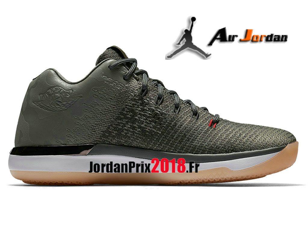 Chaussure Basket Jordan Prix Pour Homme Air Jordan 31 Low CAMO Vert Noir  897564-051