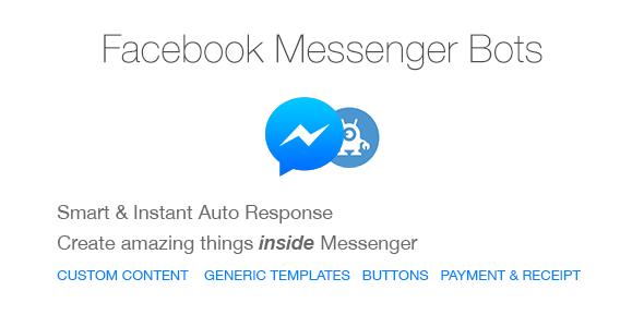 Download Free Facebook Messenger Bots For Php Auto Reply Bots Customer Facebook Messenger Website Template Facebook