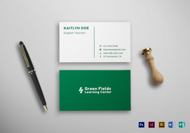 Teacher business card template formats included illustrator teacher business card template formats included illustrator indesign ms word photoshop accmission Gallery