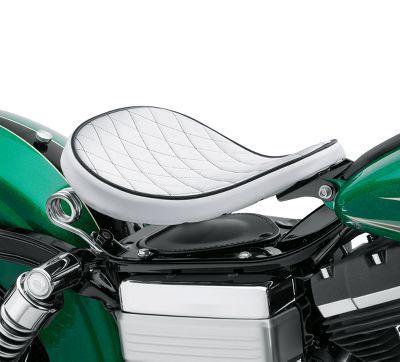 White Diamond Solo Spring Saddle Harley Davidson Motorcycle Seats Bike Saddle Design