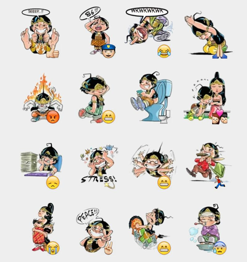sticker wayang unyu