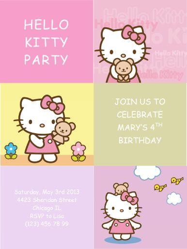 Hello-Kitty-Party-Invitation | Party Ideas | Pinterest | Party ...