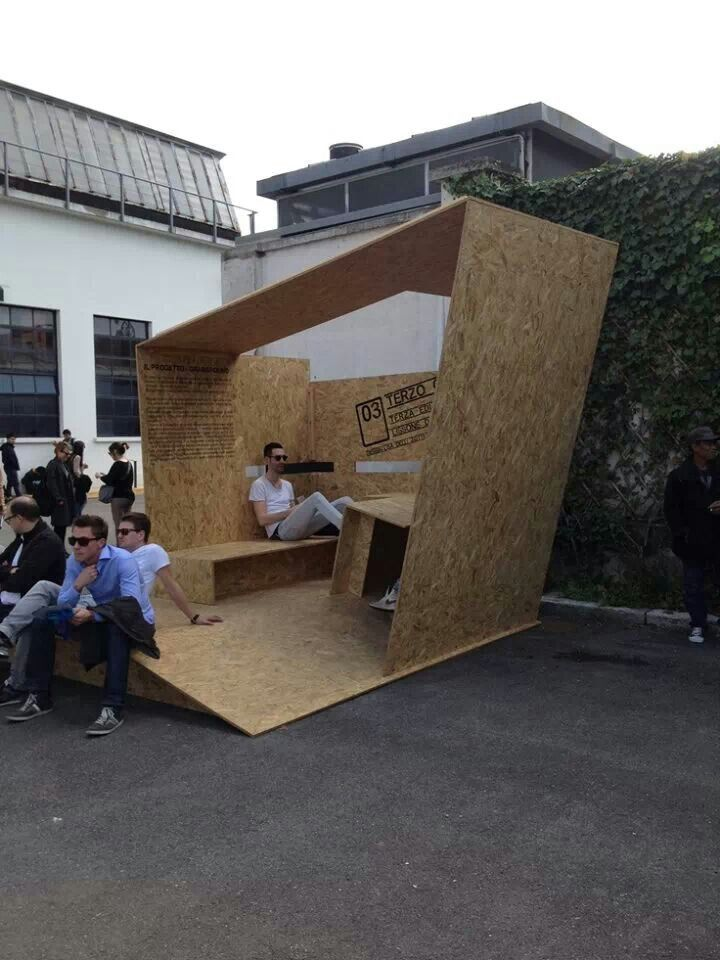 Temporary osb printing text on chipboard pinterest for Temporary furniture