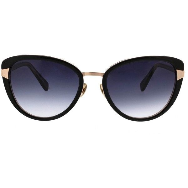 4e40e69c24f1d Oscar de la Renta Acetate Petite Cat-Eye Sunglasses With Metal Inlay found  on Polyvore featuring accessories