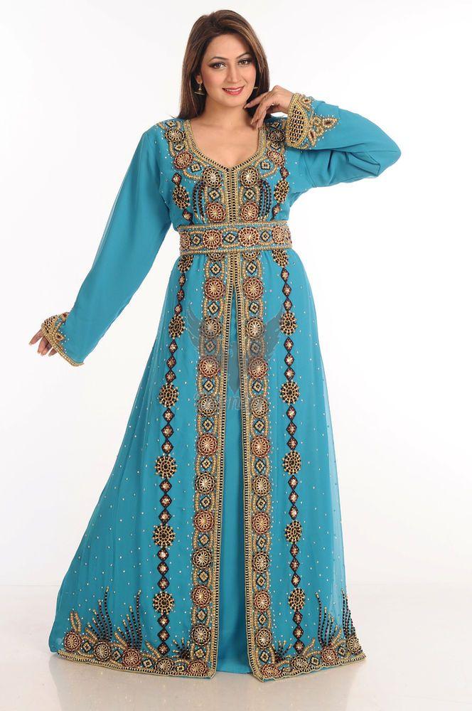 3a7b76396d Moroccan Gown Abaya Dubai Fancy Kaftan Caftan Farasha Jilbab Jalabiya Dress  S115  Handmade  AllColor  Cocktail