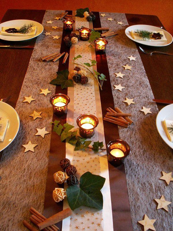 tischdekoration weihnachten 6 weihnachten pinterest no l deco noel et no l d co. Black Bedroom Furniture Sets. Home Design Ideas