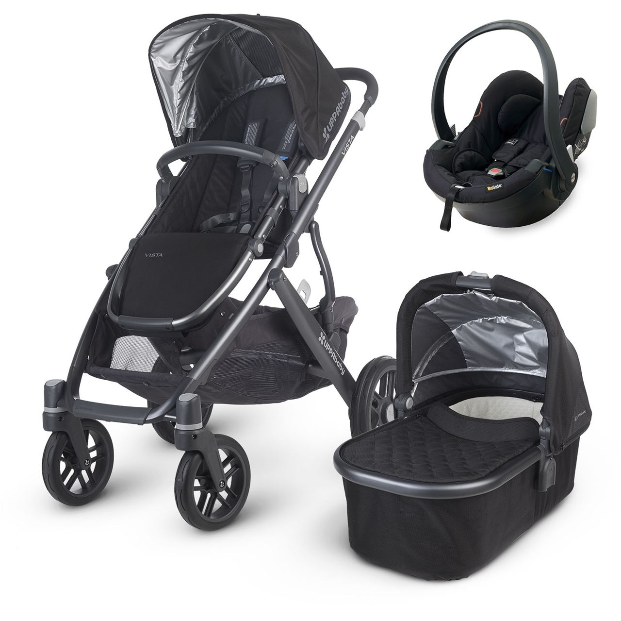 This UPPAbaby Vista 2015 (Jake black) package comes