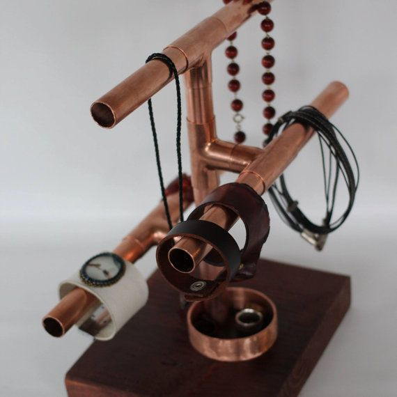 Copper Jewelry Rack by R1creationsVancouver on Etsy jewelry tree