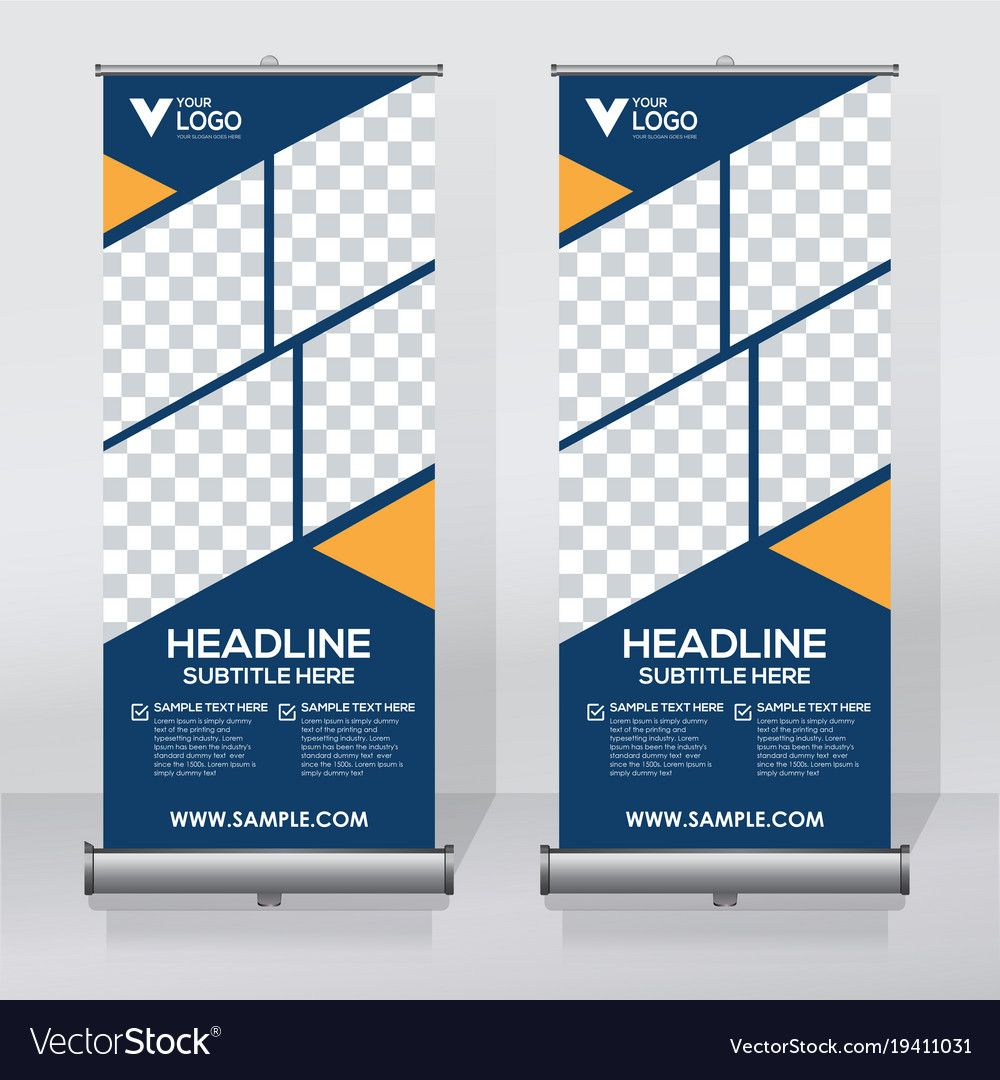 Roll up banner design template, abstract background, pull up design ...