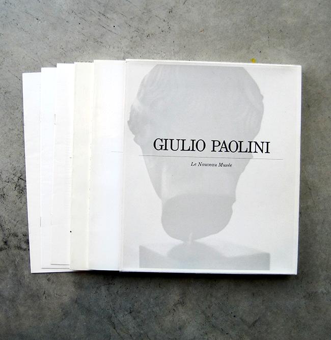 New Artists' Book: Giulio Paolini : Le Nouveau Musée, 1984.