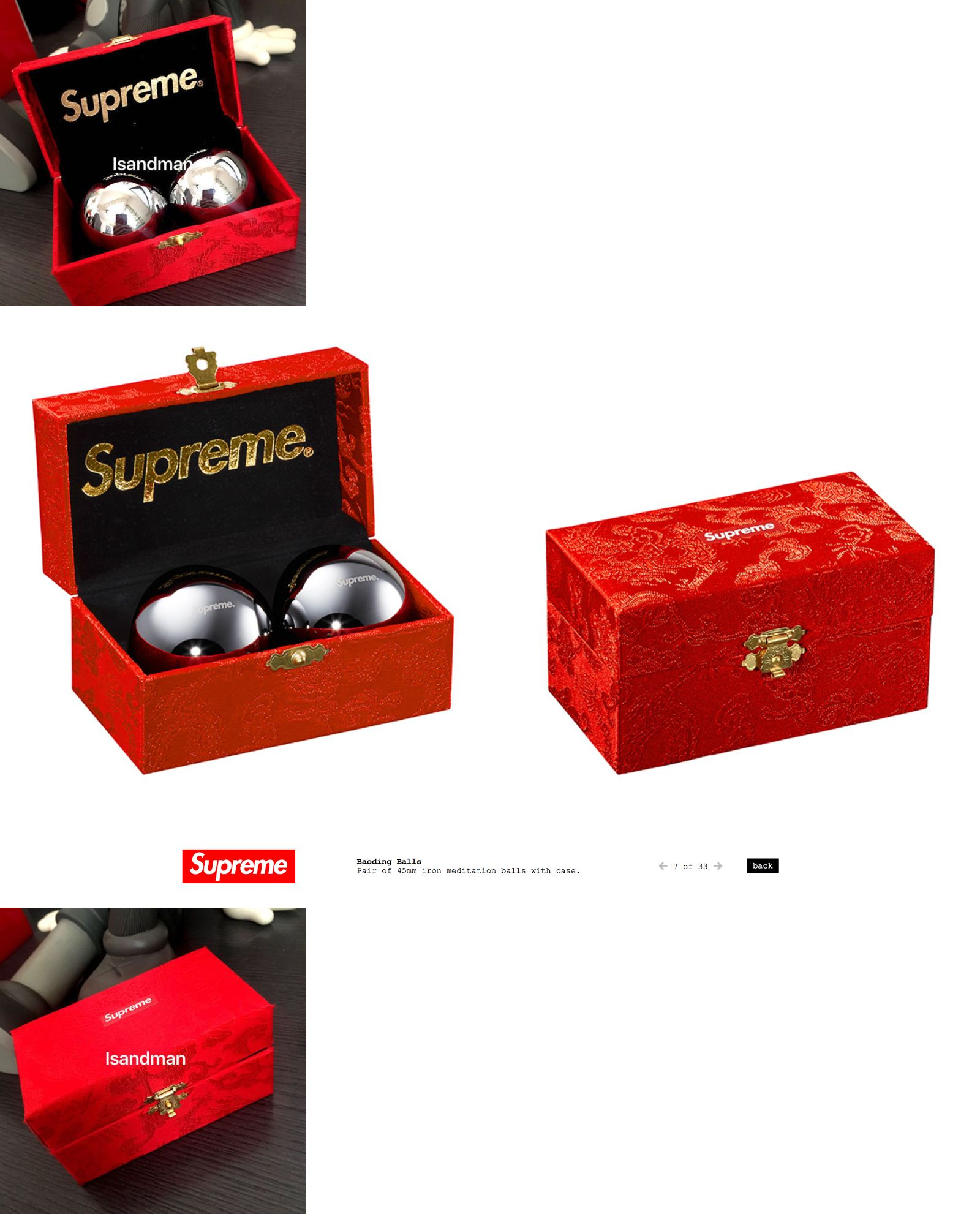 the best attitude 3ce64 181ce Key Chains Rings and Cases 52373  Supreme Baoding Balls Stress Relief  Meditation Red Box Logo Fw15 Bogo Boading -  BUY IT NOW ONLY   45.99 on  eBay!