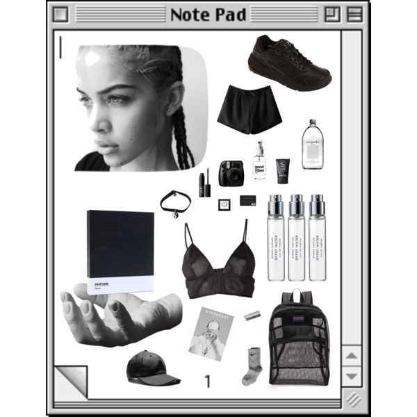 AESTHETIC by imsosyren on Polyvore featuring Love Leather, Chicnova Fashion, NIKE, New Balance, JanSport, NARS Cosmetics, Byredo, Harry Allen and Pantone